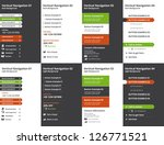 set of vertical website... | Shutterstock .eps vector #126771521