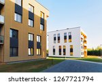 residential apartment house and ... | Shutterstock . vector #1267721794