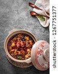 yellow pheasant in a casserole | Shutterstock . vector #1267751377
