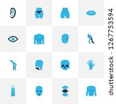 physique icons colored set with ... | Shutterstock .eps vector #1267753594