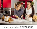 young women in the kitchen | Shutterstock . vector #126775835