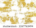 gold splashes texture. brush... | Shutterstock . vector #1267763494