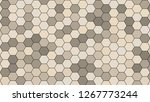 hexagonal grid pattern with... | Shutterstock . vector #1267773244
