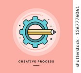 creative process  flat design... | Shutterstock .eps vector #1267776061