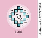 raster  flat design thin line... | Shutterstock .eps vector #1267776064