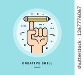 creative skill  flat design... | Shutterstock .eps vector #1267776067
