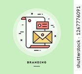 branding  flat design thin line ... | Shutterstock .eps vector #1267776091