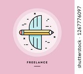 freelance  flat design thin... | Shutterstock .eps vector #1267776097