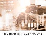 modern way of exchange. bitcoin ...   Shutterstock . vector #1267793041