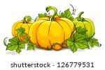 pumpkins isolated on white.... | Shutterstock .eps vector #126779531