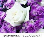 beautiful flowers as background  | Shutterstock . vector #1267798714