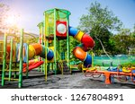 colorful children playground... | Shutterstock . vector #1267804891