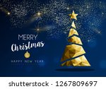 merry christmas and happy new... | Shutterstock .eps vector #1267809697