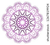 light purple color mandala... | Shutterstock .eps vector #1267819924