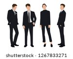 vector of young businessman and ... | Shutterstock .eps vector #1267833271