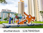 singapore   dec 18  2018  toa... | Shutterstock . vector #1267840564
