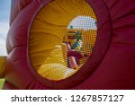 a giant colorful inflatable... | Shutterstock . vector #1267857127