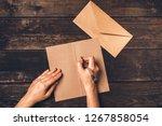 Women\'s Hands Write A Letter O...