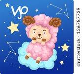 zodiac signs   aries vector... | Shutterstock .eps vector #126787739