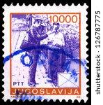 yugoslavia   circa 1986  stamp... | Shutterstock . vector #126787775