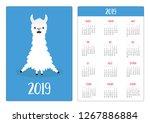 cute alpaca llama sitting....   Shutterstock . vector #1267886884
