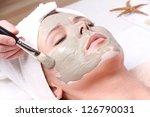 young beautiful woman receiving ... | Shutterstock . vector #126790031