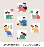 a set of people who are exposed ... | Shutterstock .eps vector #1267903357