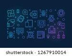 mobile applications vector... | Shutterstock .eps vector #1267910014