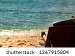 enjoy and relax caucasian woman ... | Shutterstock . vector #1267915804