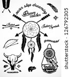 vintage indian collection with...   Shutterstock .eps vector #126792305