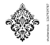 damask graphic ornament. floral ... | Shutterstock .eps vector #1267929787