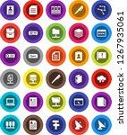 white solid icon set  pen... | Shutterstock .eps vector #1267935061