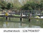 view of a low metal crossing...   Shutterstock . vector #1267936507