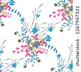 little floral seamless pattern... | Shutterstock .eps vector #1267947331