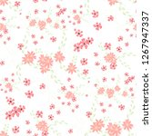 small flowers. seamless pattern ... | Shutterstock .eps vector #1267947337