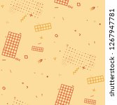 vintage memphis pattern.... | Shutterstock .eps vector #1267947781