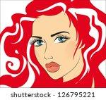 beauty vector face girl portrait | Shutterstock .eps vector #126795221