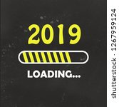 happy new year 2019 with... | Shutterstock . vector #1267959124