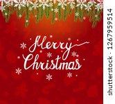 merry christmas. beautiful... | Shutterstock . vector #1267959514