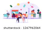 sewing clothes textile factory... | Shutterstock .eps vector #1267962064