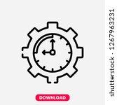 time management concept line...