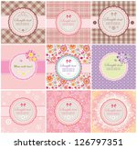 beautiful greeting labels | Shutterstock .eps vector #126797351