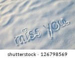 Miss You With Heart Sign...