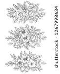 vintage vector floral...   Shutterstock .eps vector #1267998634