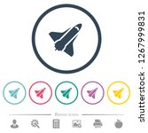 space shuttle flat color icons... | Shutterstock .eps vector #1267999831