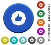 thumbs up sticker round color... | Shutterstock .eps vector #1268005657
