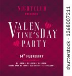happy valentines day party... | Shutterstock .eps vector #1268007211