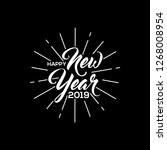 vector new year 2019 white text | Shutterstock .eps vector #1268008954