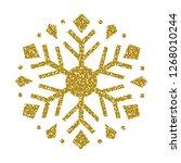 golden christmas snowflake.... | Shutterstock .eps vector #1268010244