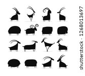 goats and rams collection for... | Shutterstock .eps vector #1268013697
